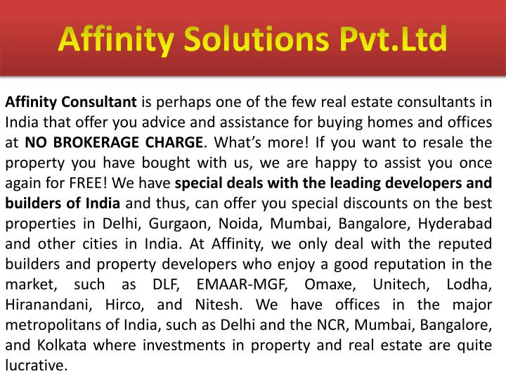 affinity solutions pvt ltd n.
