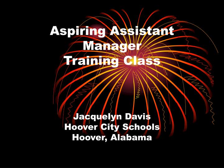 aspiring assistant manager training class n.