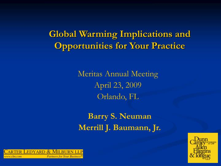 global warming implications and opportunities for your practice n.
