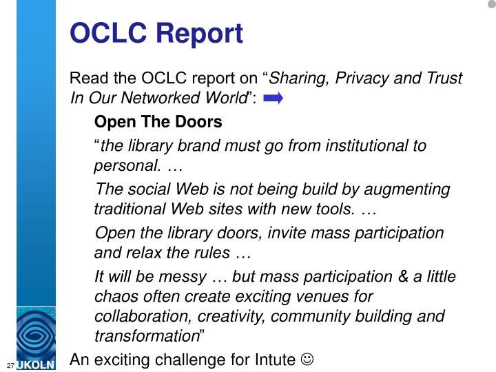 OCLC Report