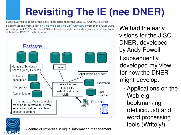Revisiting The IE (nee DNER)