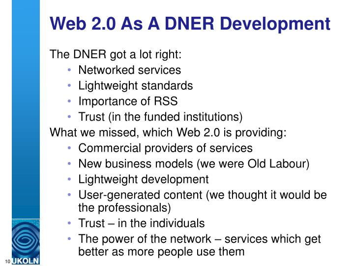 Web 2.0 As A DNER Development