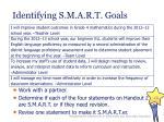 identifying s m a r t goals