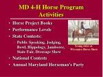 md 4 h horse program activities