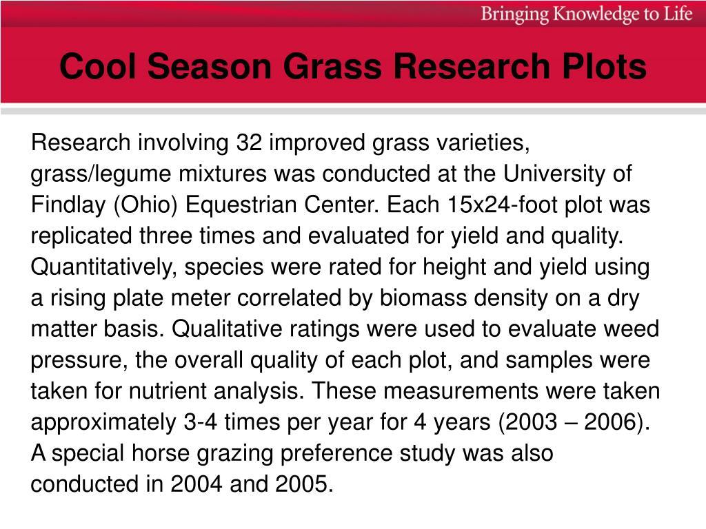 Cool Season Grass Research Plots