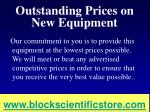 outstanding prices on new equipment