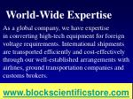 world wide expertise
