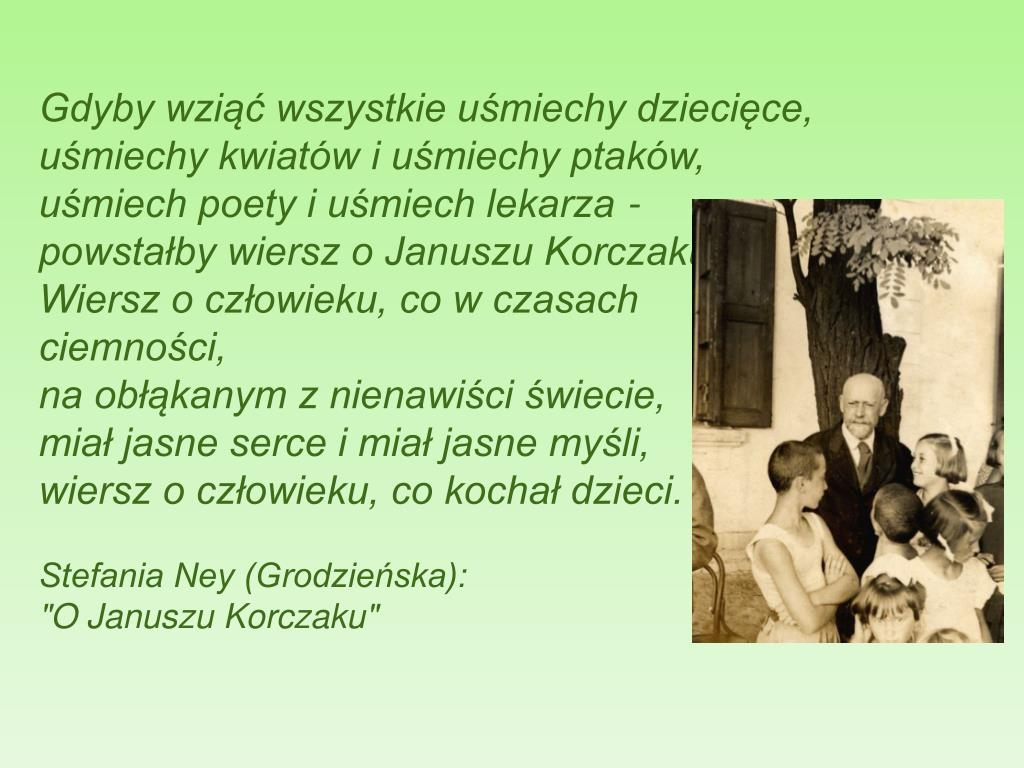 Ppt Janusz Korczak Powerpoint Presentation Free Download