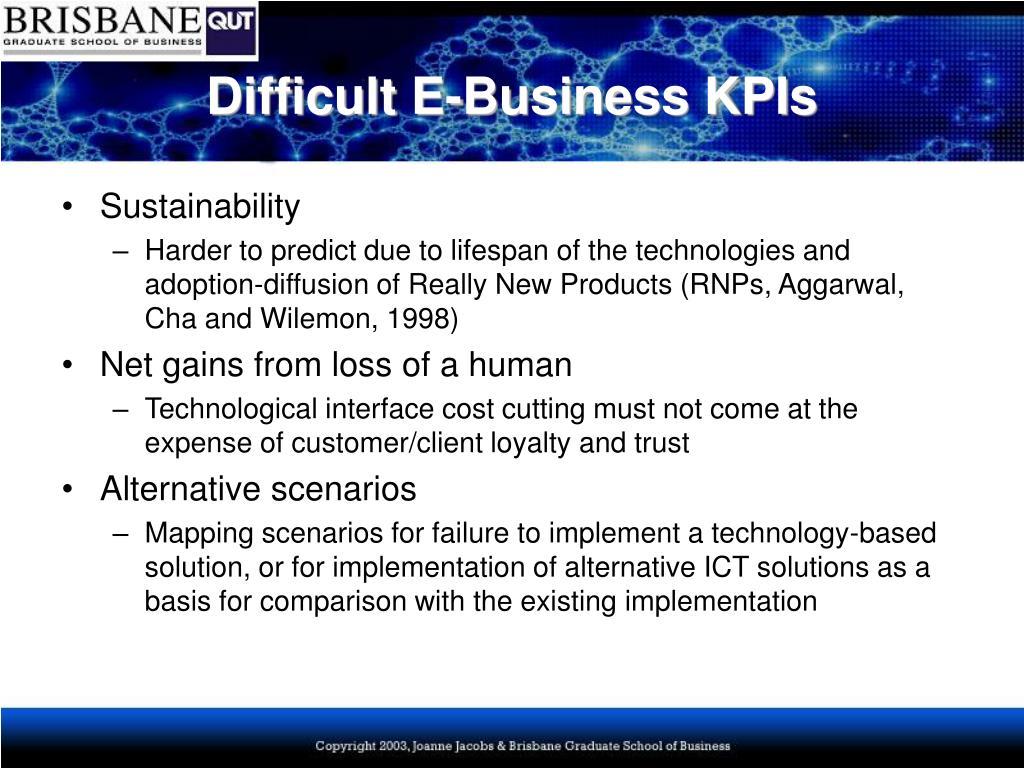 Difficult E-Business KPIs