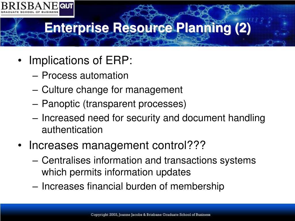 Enterprise Resource Planning (2)