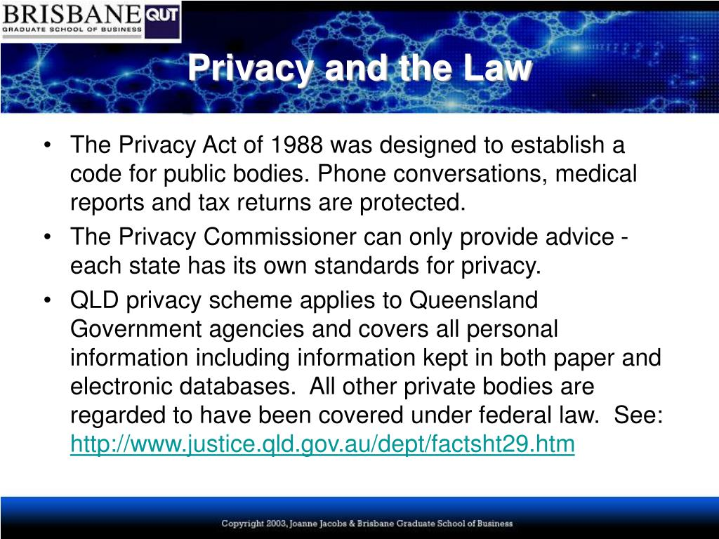 Privacy and the Law