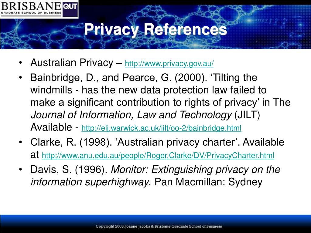 Privacy References