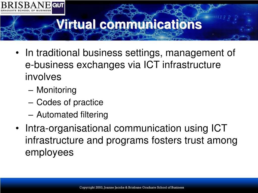 Virtual communications