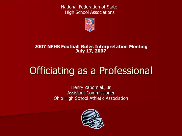 officiating as a professional n.