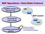 bgp operations hard state protocol