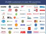 25 000 customers in over 90 countries http www automationanywhere com customers customerlist htm