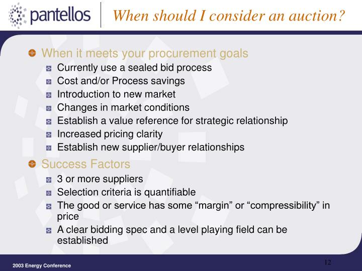 When should I consider an auction?