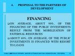 proposal to the partners of development35