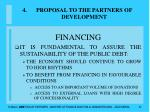 proposal to the partners of development37