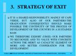 strategy of exit31
