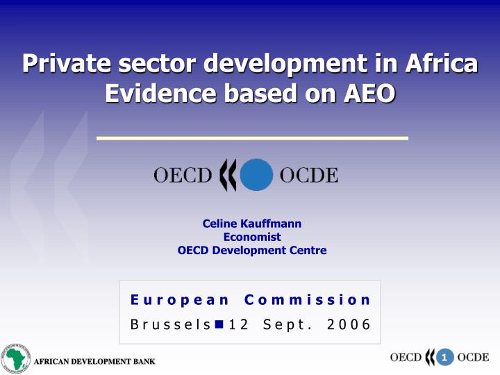 private sector development in africa evidence based on aeo n.