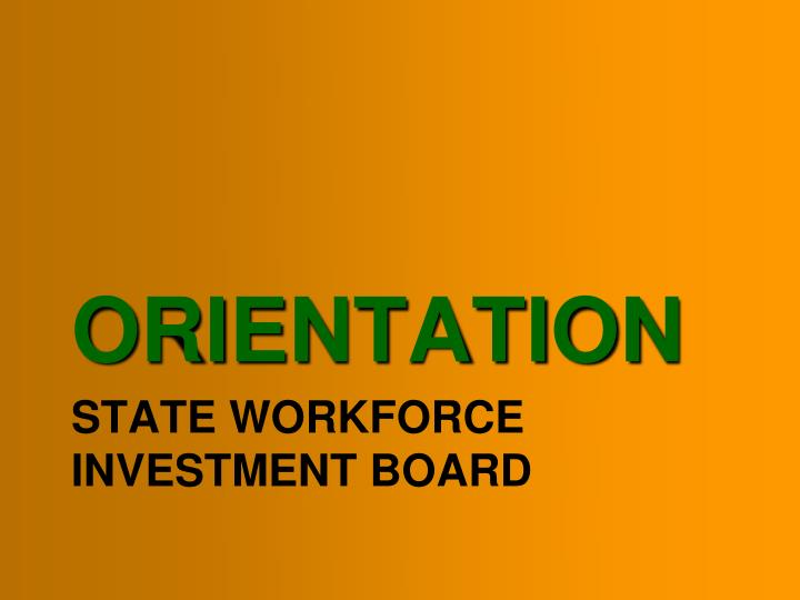 state workforce investment board n.