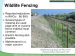 wildlife fencing