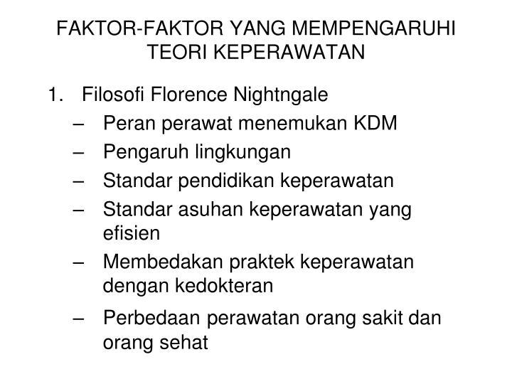 FAKTOR-FAKTOR YANG MEMPENGARUHI TEORI KEPERAWATAN