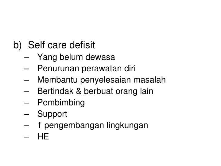 Self care defisit