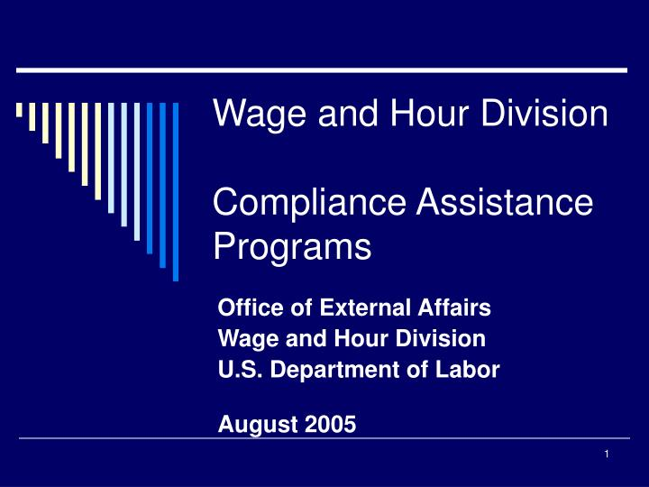 wage and hour division compliance assistance programs n.