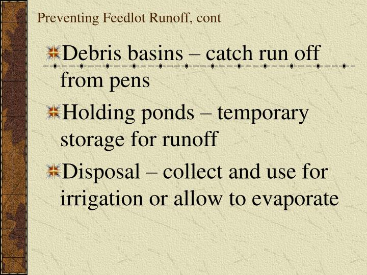 Preventing Feedlot Runoff, cont