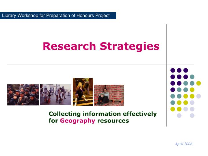 library workshop for preparation of honours project n.
