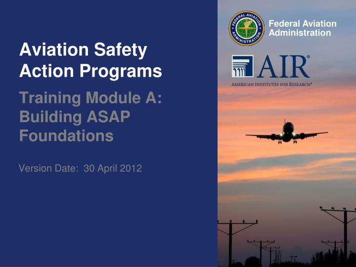 aviation safety action programs n.