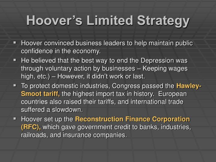 Hoover s limited strategy