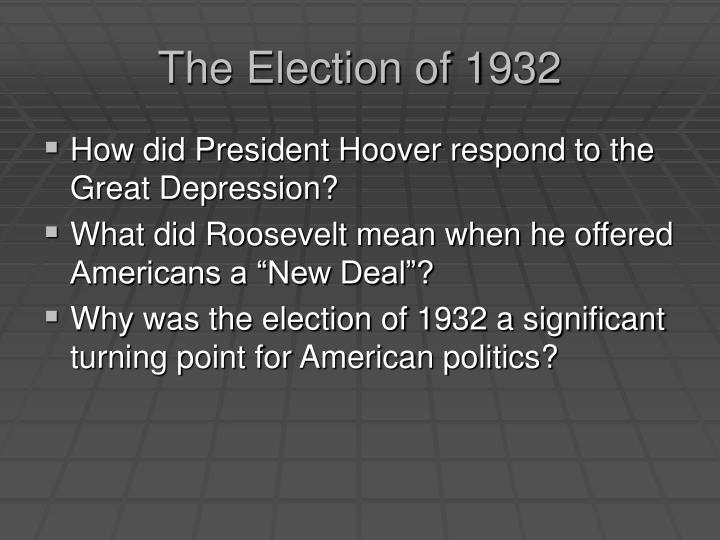 The election of 19321