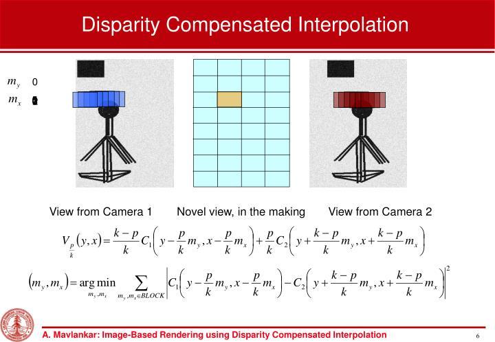 Disparity Compensated Interpolation