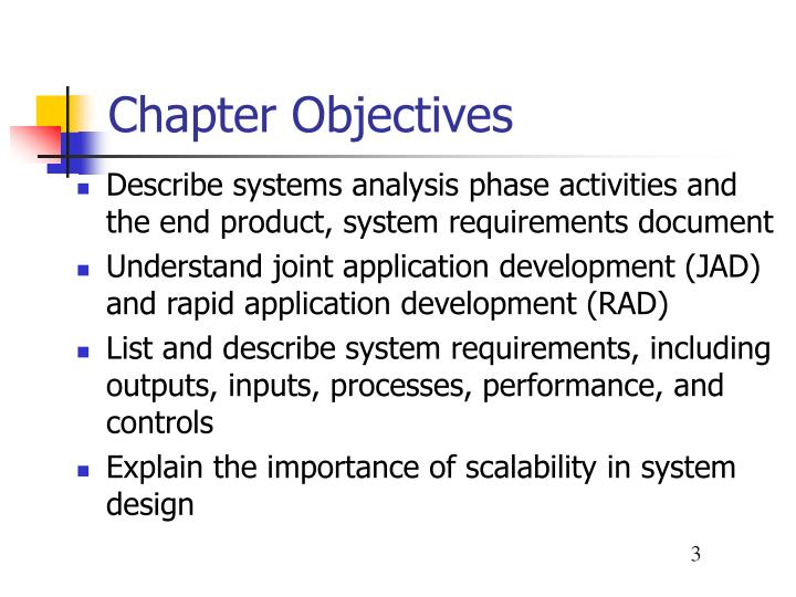 objectives of system analysis
