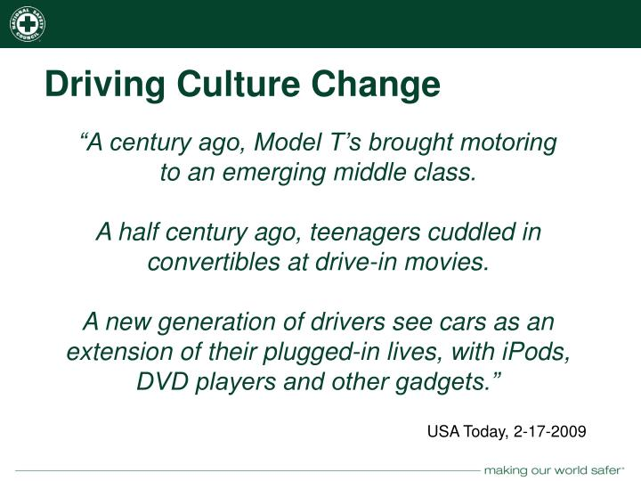 Driving Culture Change