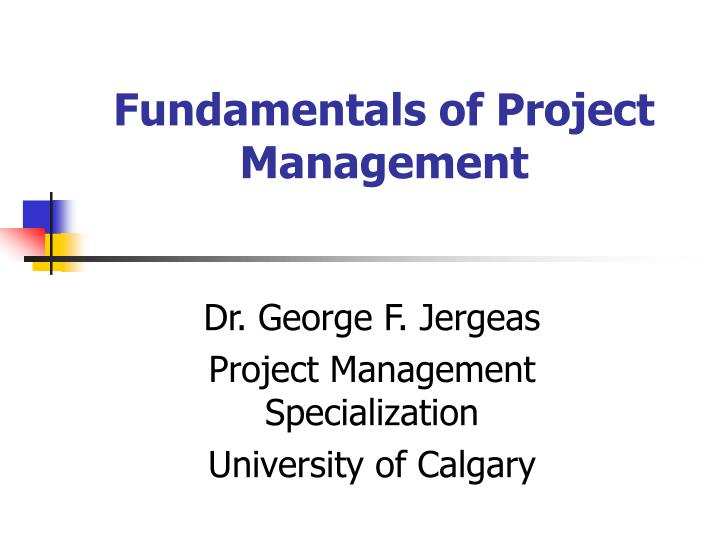fundamentals of project management n.