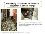 vulnerability constraints for livelihoods adaptation to climate change