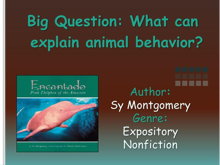 author sy montgomery genre expository nonfiction n.