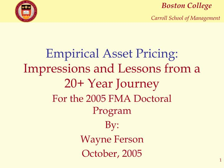 empirical asset pricing impressions and lessons from a 20 year journey n.