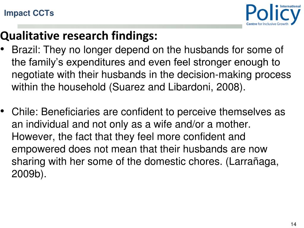 Qualitative research findings: