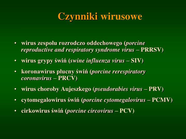 Czynniki wirusowe