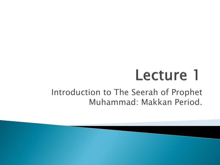 lecture 1 n.