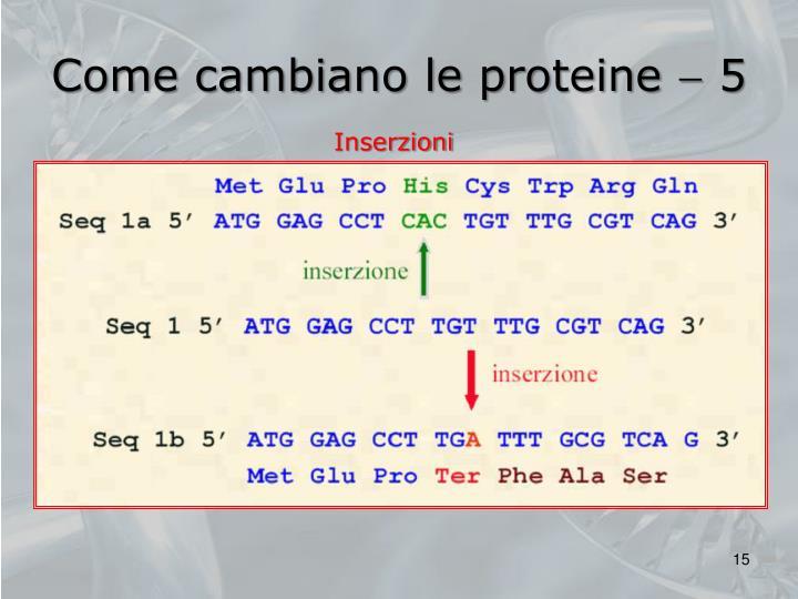 Come cambiano le proteine