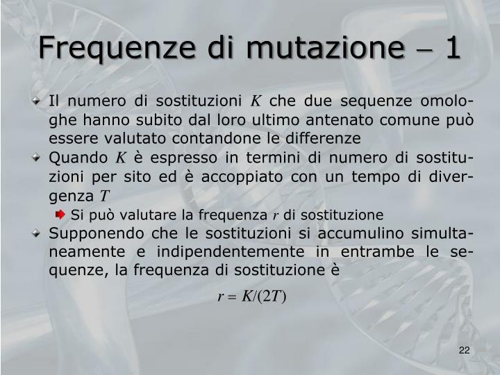 Frequenze di mutazione