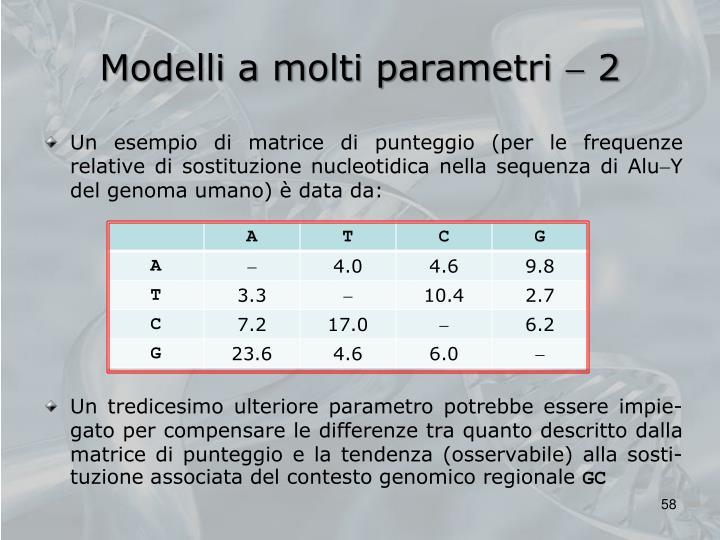 Modelli a molti parametri