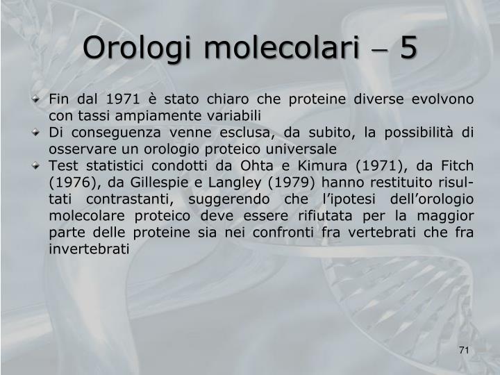 Orologi molecolari