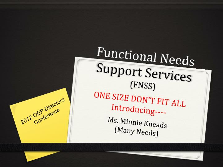 functional needs support services fnss n.